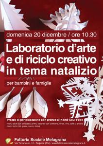 Laboratorio d'arte e di riciclo in tema natalizio